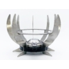Kép 3/4 - Rezsó Zéró - spirituszégővel - rozsdamentes acélból - ezüst színű - szemből
