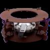 Kép 1/3 - Rezsó Szarvas, spirituszégővel, barna színű