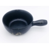 Kép 2/4 - Sajtfondü edény Hegymászó - fekete színű - felülről