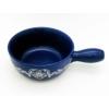 Kép 2/4 - Sajtfondü edény Szív - kék színű - felülről