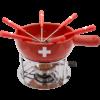Kép 2/2 - Sajtfondü szett Svájci kereszt - 9 részes - felülről
