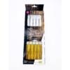 Kép 2/2 - Villa sajtfondühöz Hullámok - műanyag PP nyelű - fa színű - csomag