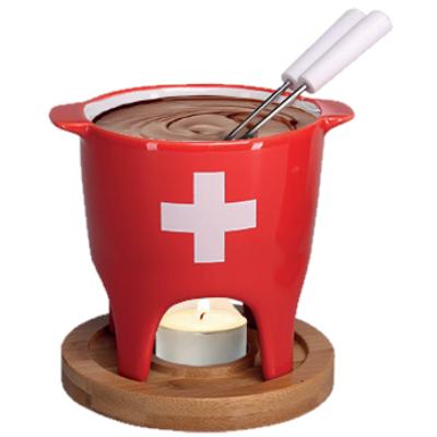 Csokifondü szett Svájci kereszt, 5 részes