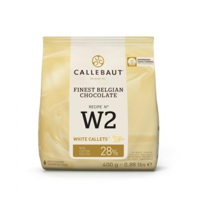 Callebaut belga fehér csokoládé pasztilla, 400g