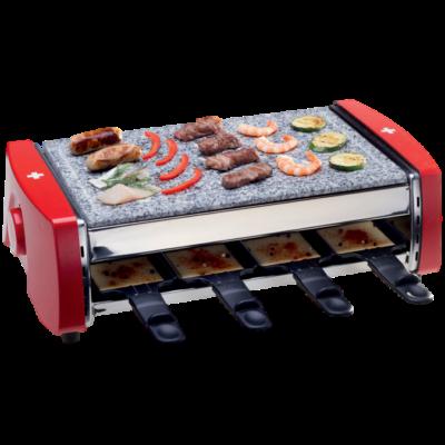 """Raclette sütő """"Svájci kereszt"""", piros színű, 1500 W"""