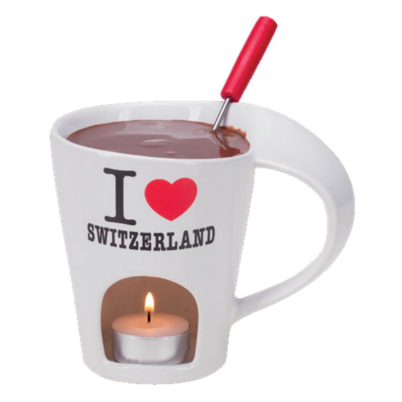 Csokifondü szett I love Switzerland, 3 részes