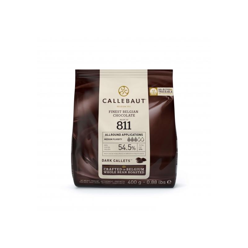 Callebaut belga étcsokoládé pasztilla, 400g