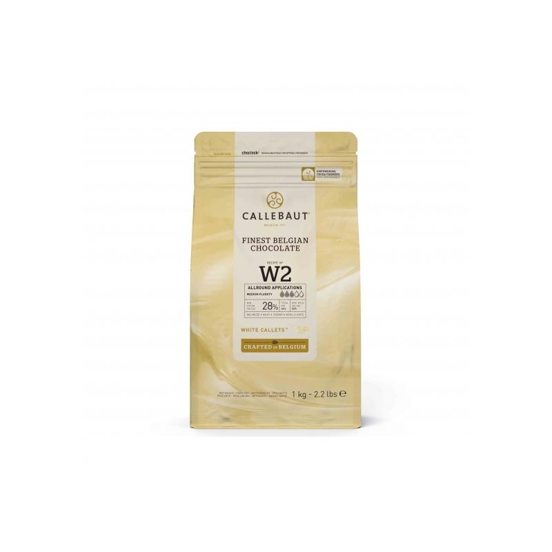 Callebaut belga fehér csokoládé pasztilla, 1kg