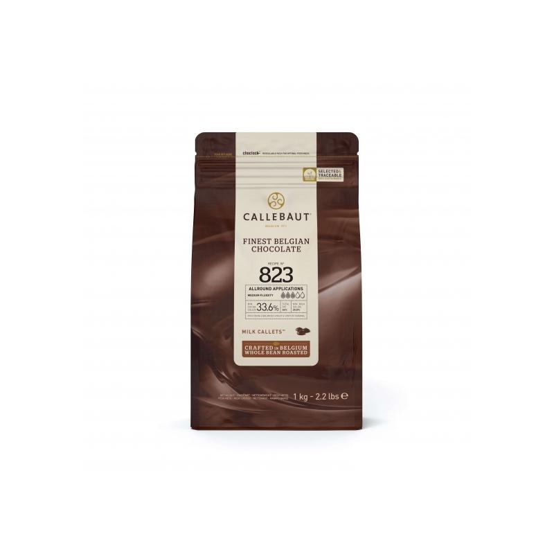 Callebaut belga tejcsokoládé pasztilla, 1kg