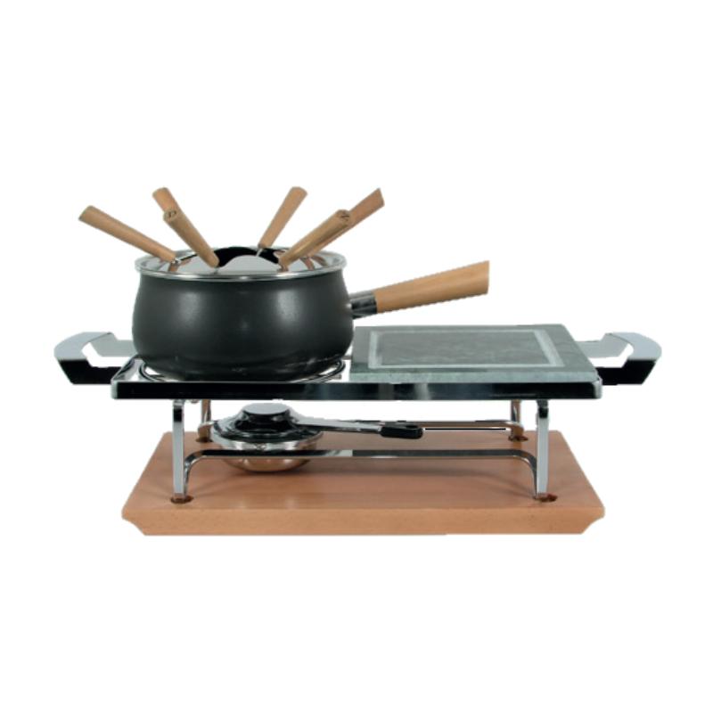 Húsfondü szett asztali grillkővel, 11 részes