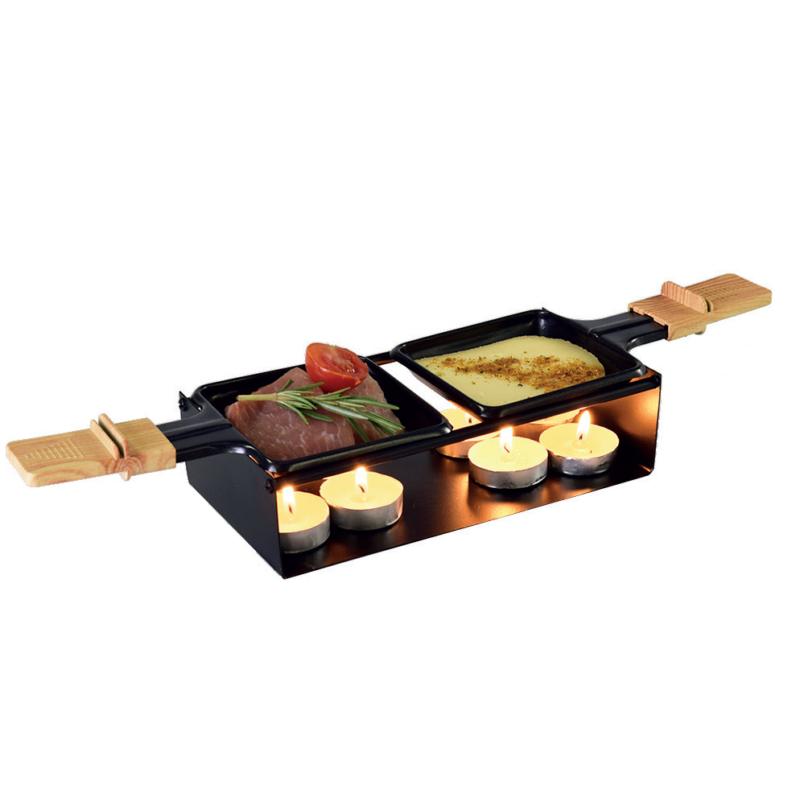"""Raclette sütő """"Gyertyafényes est"""", gyertyás, fekete színű"""