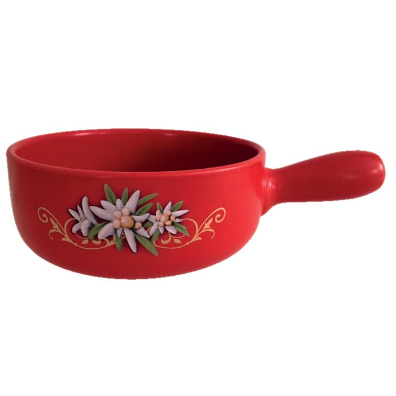 Sajtfondü edény Havasi gyopár, piros színű