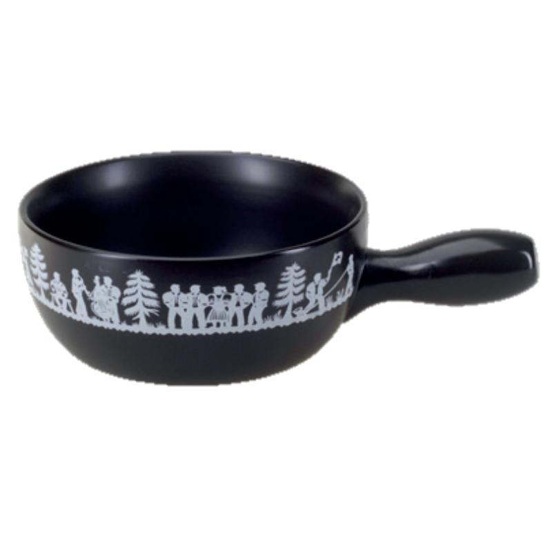 Sajtfondü edény Néptánc, fekete színű