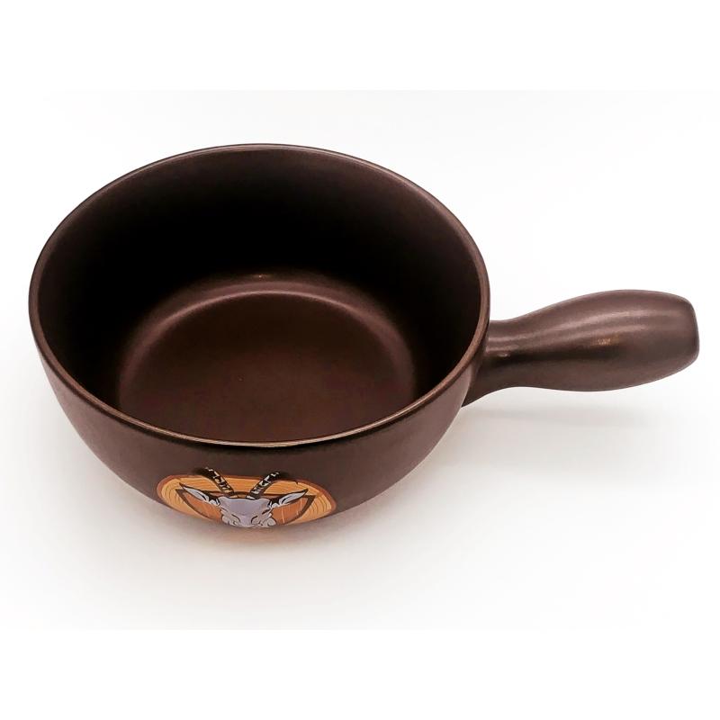 Sajtfondü edény Vadász-3D - sötétbarna színű - felülről