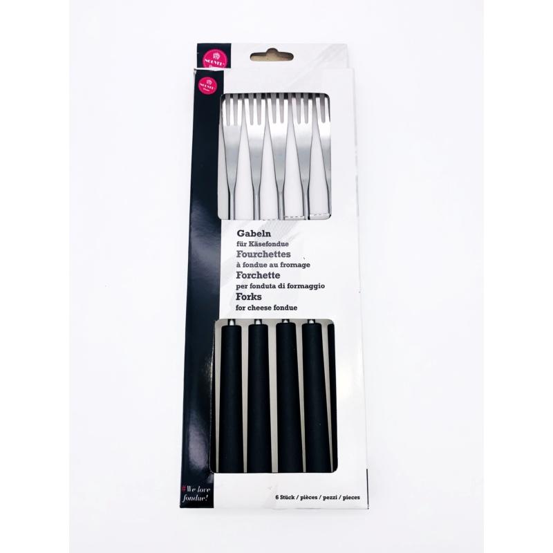 Villa sajtfondühöz - műanyag nyelű - fekete színű - csomag