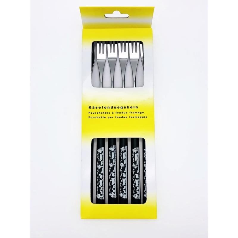 Villa sajtfondühöz Sziluett - műanyag markolattal - fekete színű - csomag
