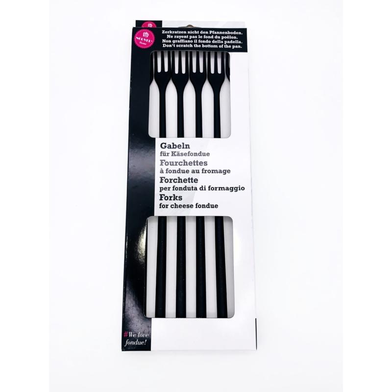 Villa sajtfondühöz - karcolásmentes - fekete színű - csomag