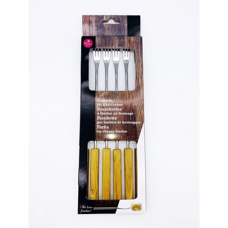 Villa sajtfondühöz - műanyag PP nyelű - fa színű - csomag